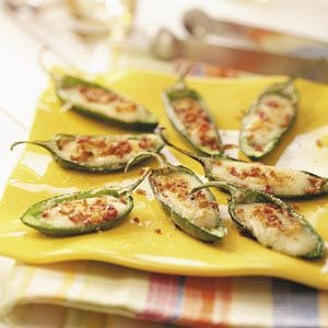 Grilled Cheese-Stuffed Jalapenos
