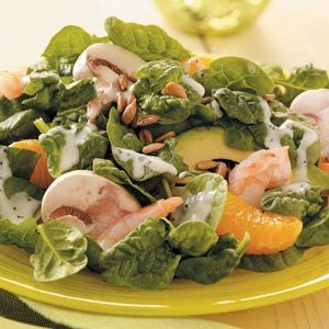 Spinach Salad with Shrimp