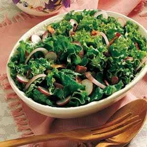 Wilted Leaf Lettuce Salad