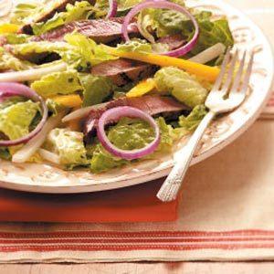 Grilled Steak Salad with Fruit