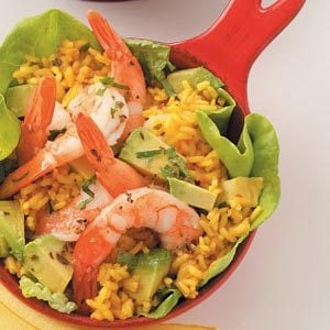 Saffron Rice Shrimp Salad