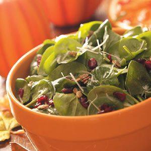 Pumpkin Seed Spinach Salad