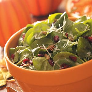 Pumpkin Seed Spinach Salad
