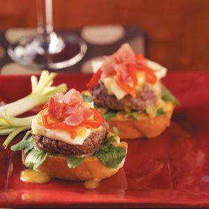 Beefstro Bruschetta  Burgers