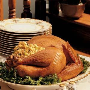 Roasted Turkey with Cornbread Dressing