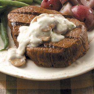 Steaks with Mushroom Cream Sauce