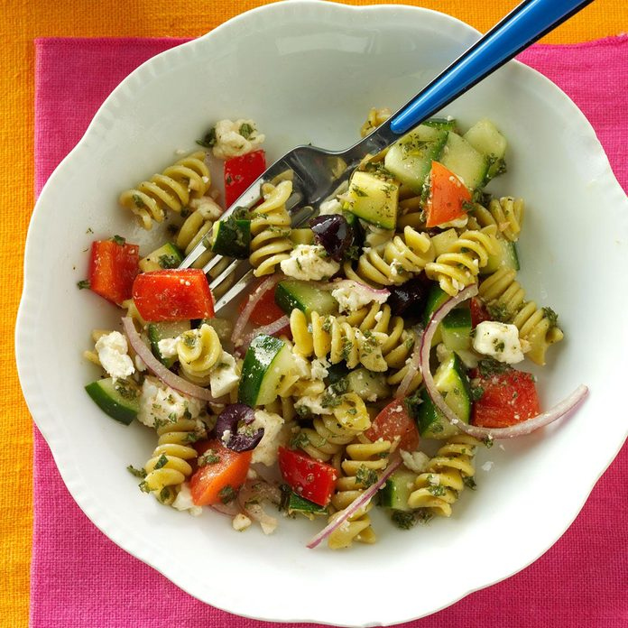 Inspired By: Greek Pasta Side Salad