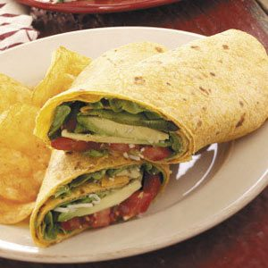Avocado Tomato Wraps