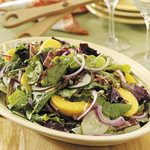 Tossed Salad with Peaches