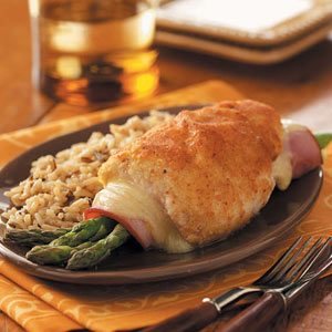 Asparagus-Stuffed Chicken Rolls