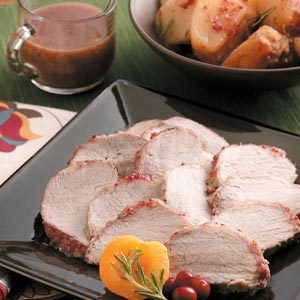 Cranberry-Apricot Pork Roast with Potatoes