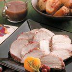 Cranberry-Apricot Pork Roast with Potatoes