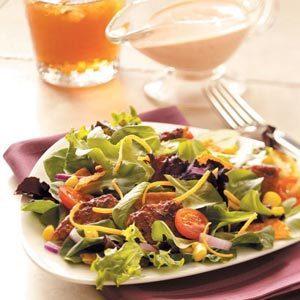 Black Bean Veggie Burger Salad