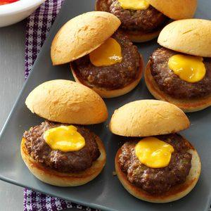 Party Time Mini Cheeseburgers