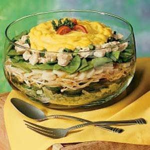 Fast Layered Chicken Salad