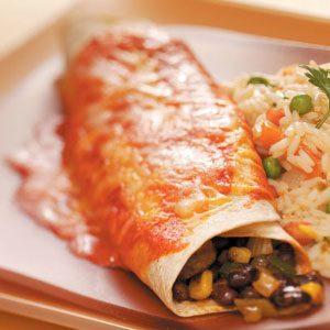 Black Bean Veggie Enchiladas