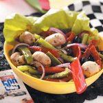 Roasted Pepper Mushroom Salad