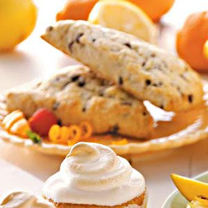Tangerine Chip Tea Scones