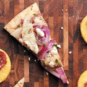 Goat Cheese, Pear & Onion Pizza