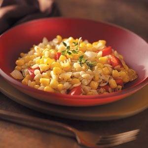 Corn & Pepper Orzo