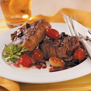 Grilled Lamb Chops with Wine Sauce