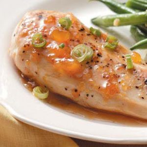Apricot Glazed Chicken for Two