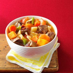 Loaded Vegetable Beef Stew