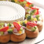 Veggie Ham Crescent Wreath