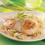 Tarragon Chicken with Grapes and Linguine