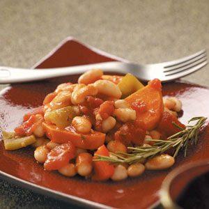 White Bean, Sweet Potato & Pepper Ragout