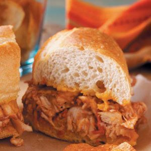 Barbecued Chicken Hoagies