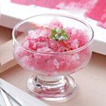 Gingered Cranberry Granita