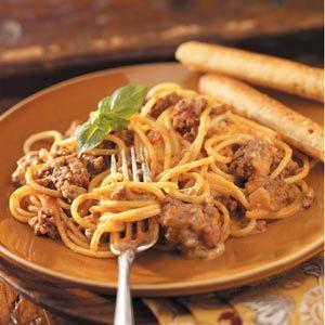 Two-Cheese Spaghetti Bake