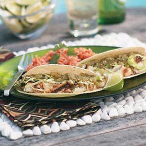 Grilled Halibut Tacos with Salsa Verde