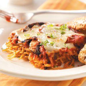 Portobello Spaghetti Casserole