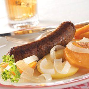 One-Dish Bratwurst Dinner