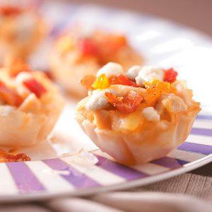 Chicken, Pear & Gorgonzola Tarts