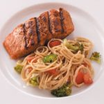 Salmon with Broccoli and Pasta
