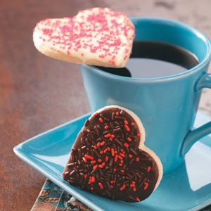 Chocolate-Frosted Heart Cookies