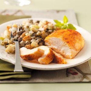 Roast Chicken with Oyster Stuffing