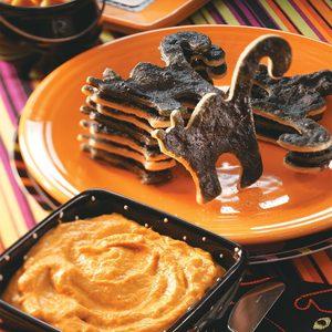 Black Cat Dippers with Pumpkin Pie Dip