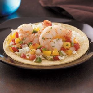 Peachy Shrimp Tacos