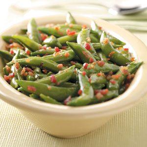 Glazed Snap Peas