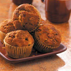 Double-Chip Pumpkin Cinnamon Muffins