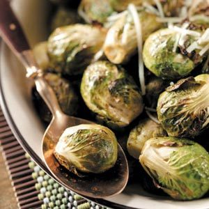 Lemon-Garlic Brussels Sprouts