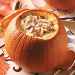 Tapioca Pudding in Pumpkins