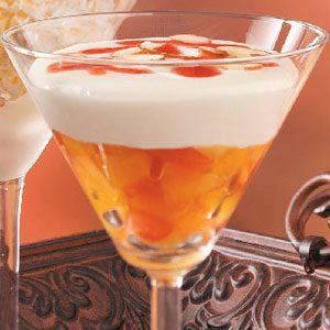 Peach Melba Mousse Dessert