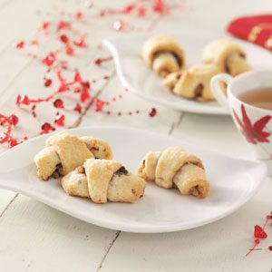 Raspberry Chocolate Rugelach