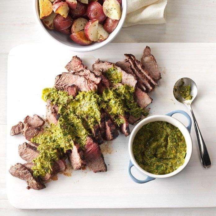 Leo: Steak with Chipotle-Lime Chimichurri