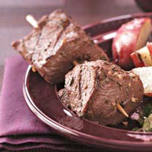 Succulent Beef Skewers for 2